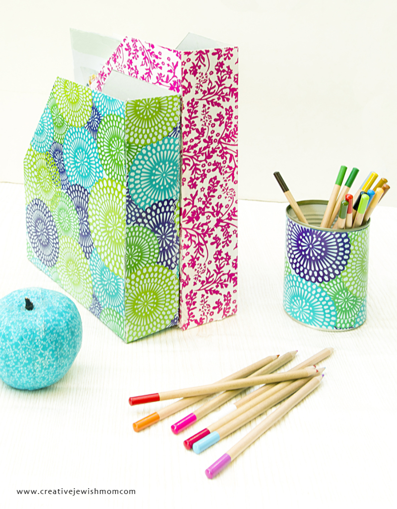 Cereal Box Magazine Holders DIY With Pencil Cup Cropped
