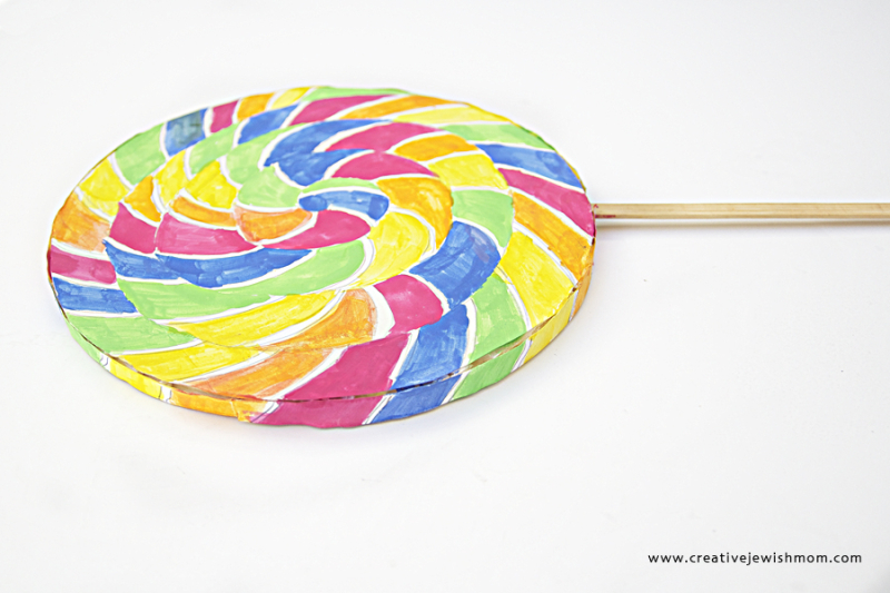 Watercolor Lollipop Costume Prop