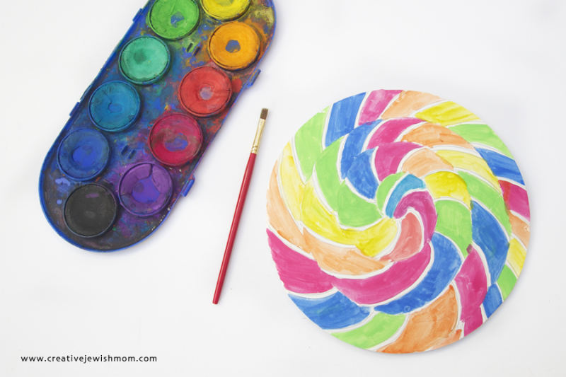 Watercolor Lollipop Party Decoration