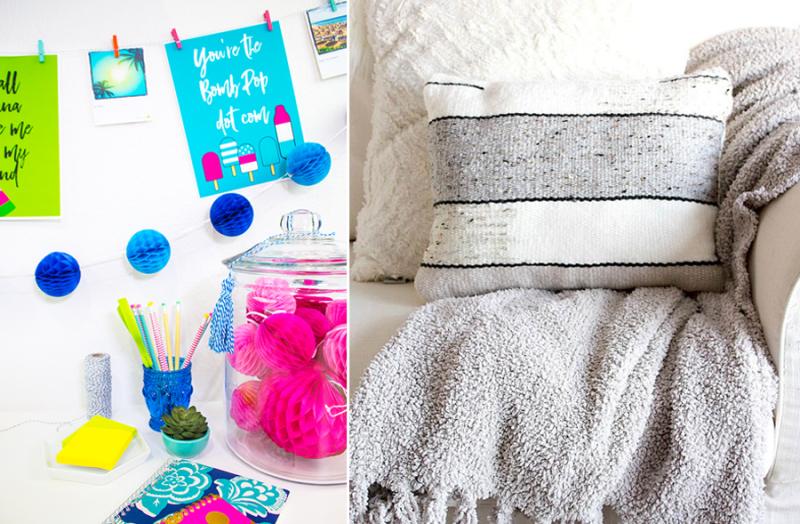 DIY woven pillow,summer printable