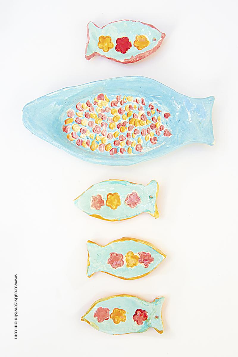Ceramic Fish plates craft