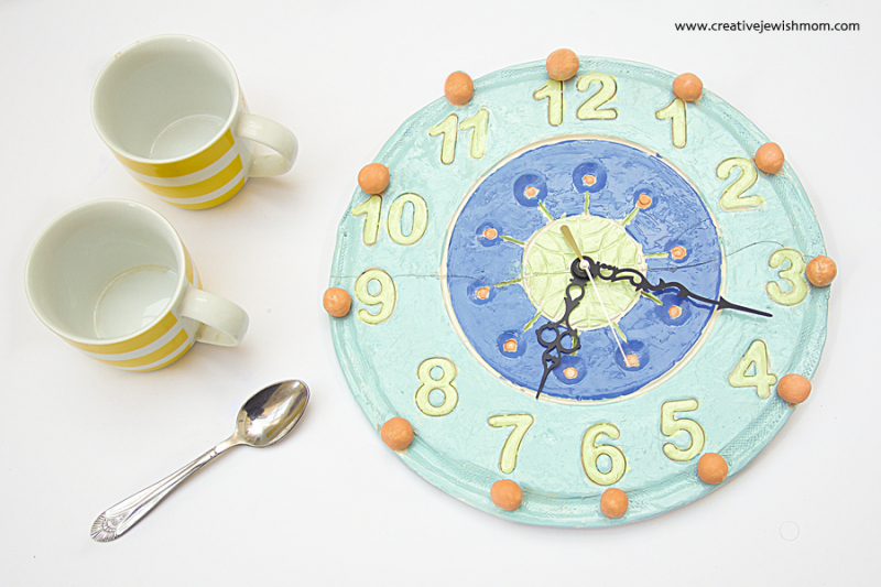 Ceramic Mid Century Style Clock Craft For Kids