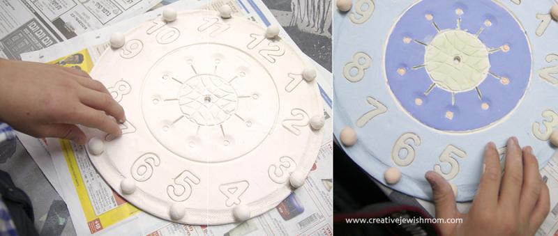 Ceramic Clock After First Firing