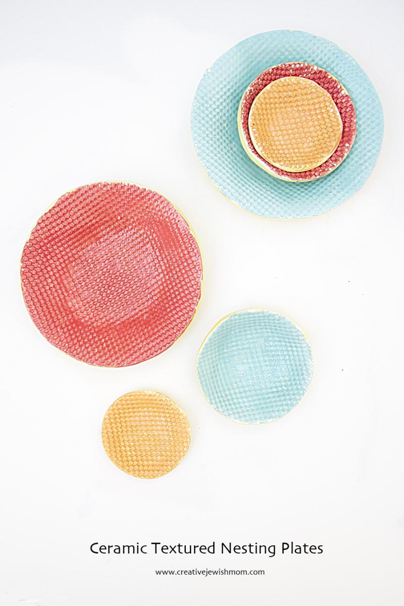 Ceramic Textured Nesting Plates