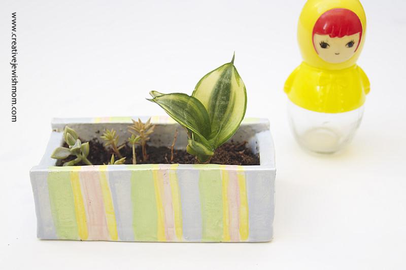 Ceramic Planter Small With Matroyshka