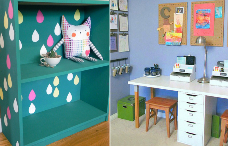How to paint a laminate bookcase,fun homework station