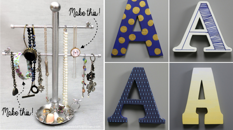 How to paint monogram letters,jewelry stand