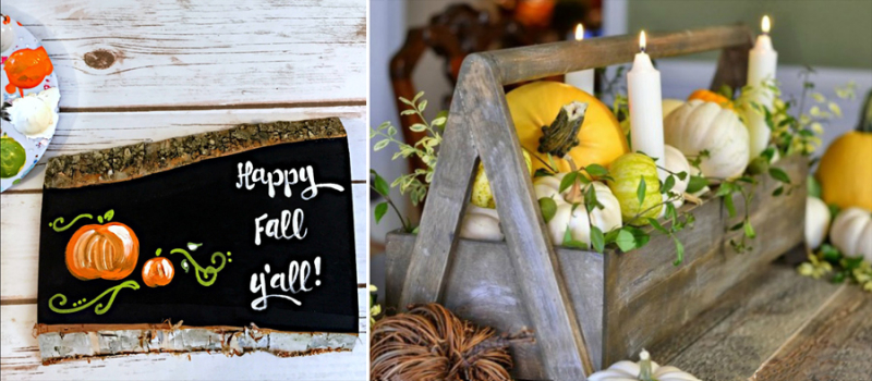 Hand painted fall sign,fall centerpiece trough