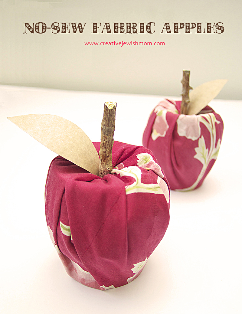 Recycled can fabric apples