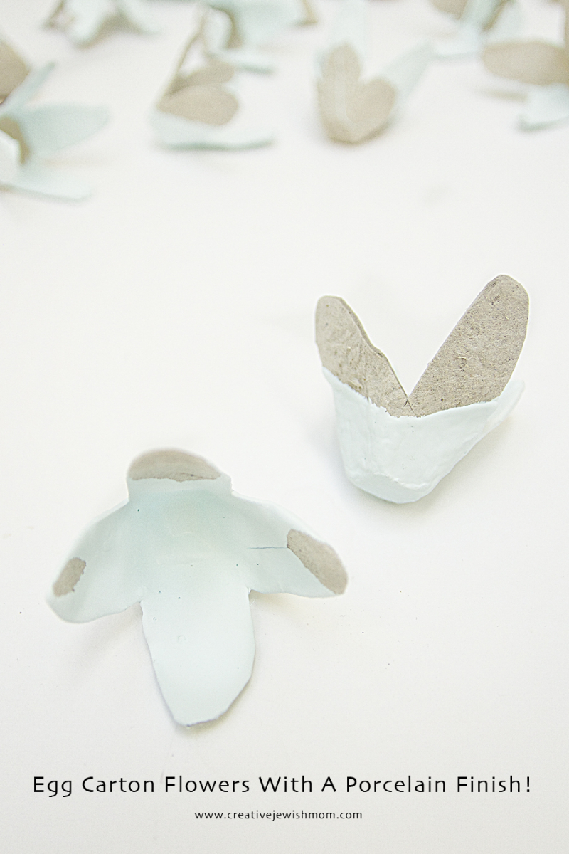 Egg Carton Flowers With Porcelain Coating