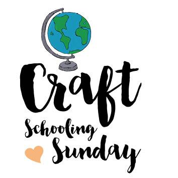 Craft schooling sunday button art