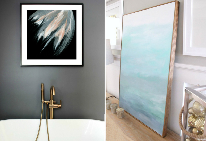 Simple frame for canvas,how to hang heavy pictures