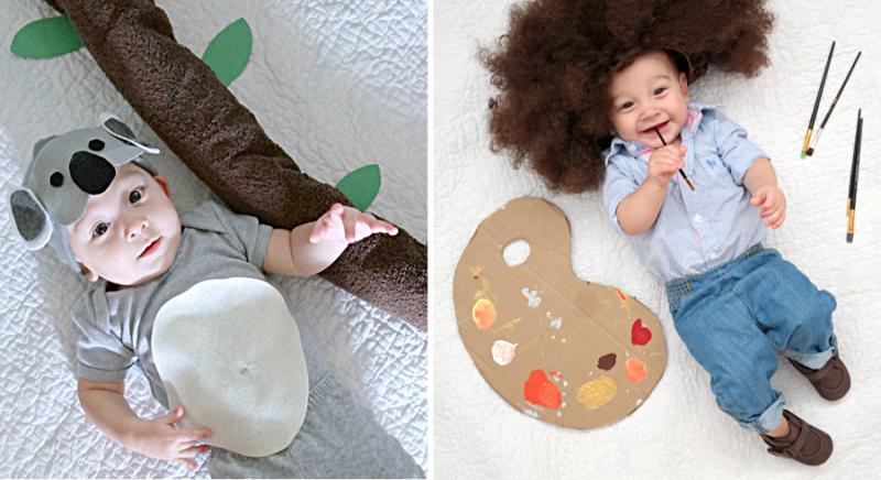 Baby koala costume,baby bob ross costume
