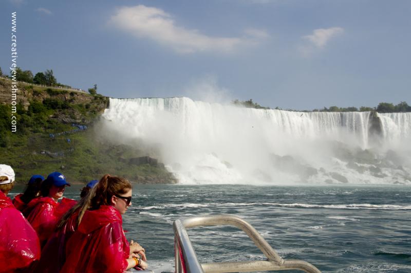 Niagara Falls On Boat With Ponchos