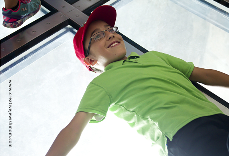 CN Tower Child on Glass Floor