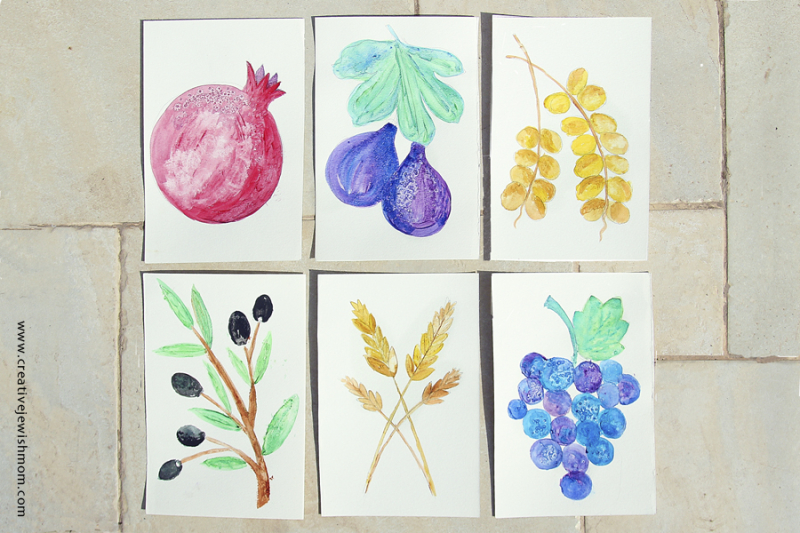 Watercolor Seven Species For Succah