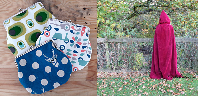 DIY cloak from old curtains,fabric coin purses