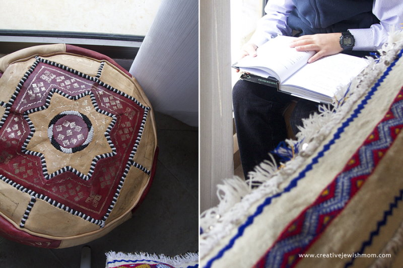 Rain In Israel With Moroccan Pouf