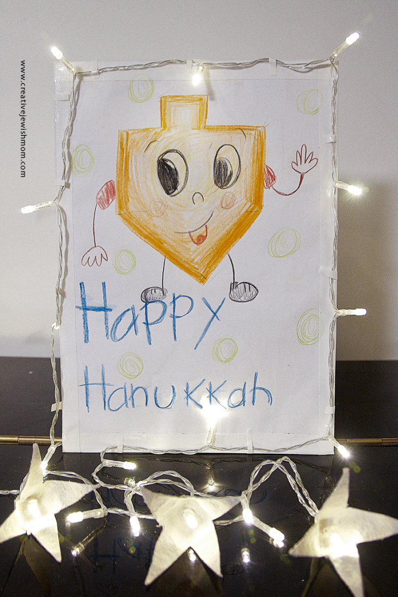 Hanukkah Kids Drawing Craft With Lights