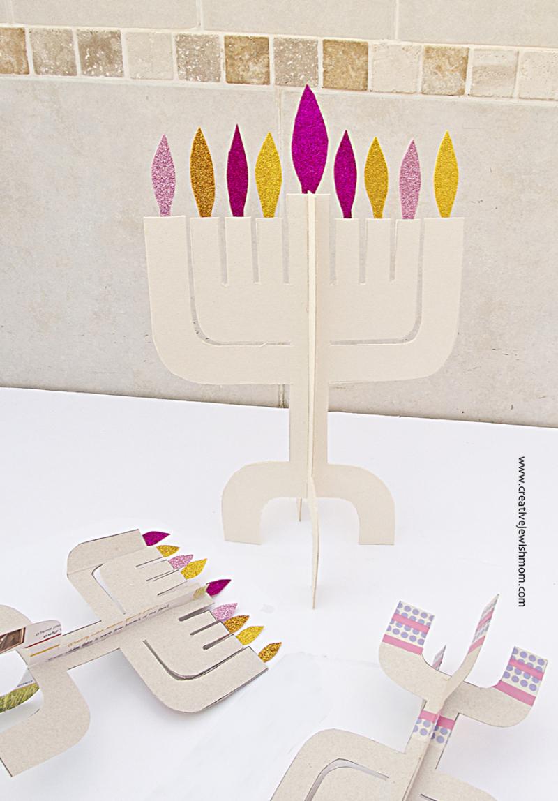 Hanukkah Menorahs Craft Kit From Cardboard