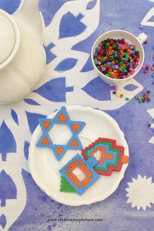 Play Hanukkah Cookies Made From Hama Perler Beads