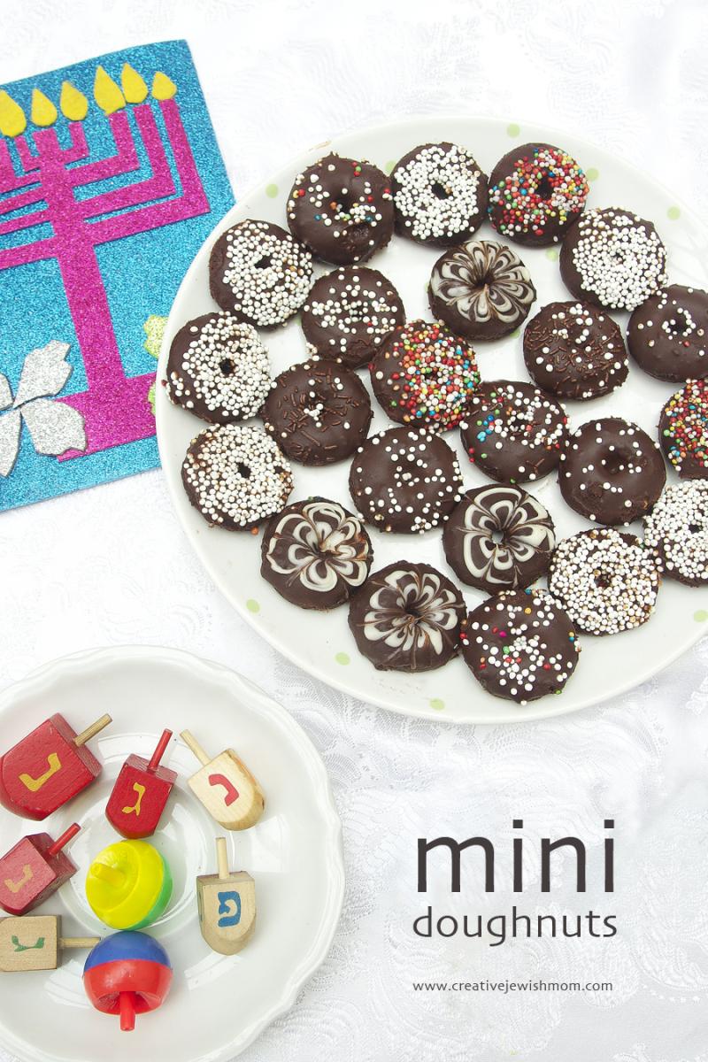 Mini doughnuts for hanukkah