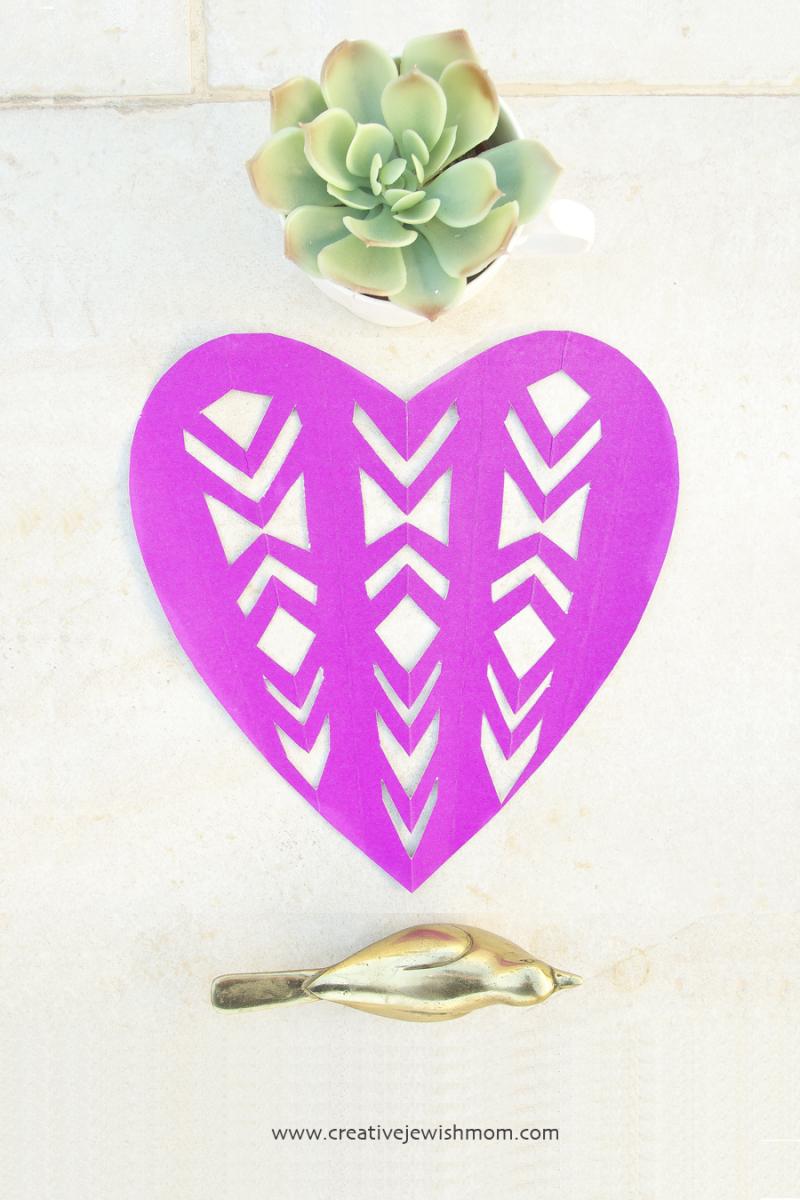 Cut Paper Heart Geometric pattern