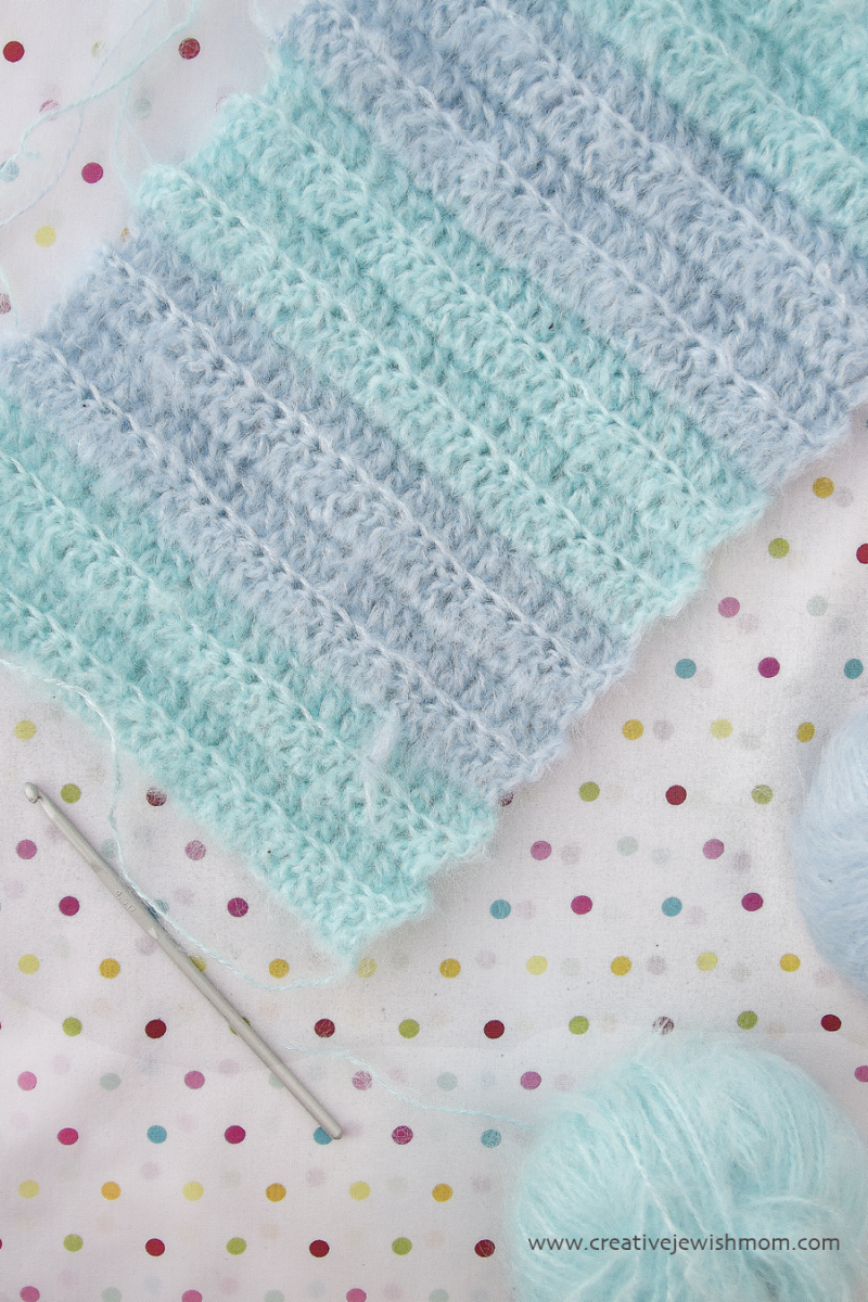 Crocheted Mohair Cowl In Progress