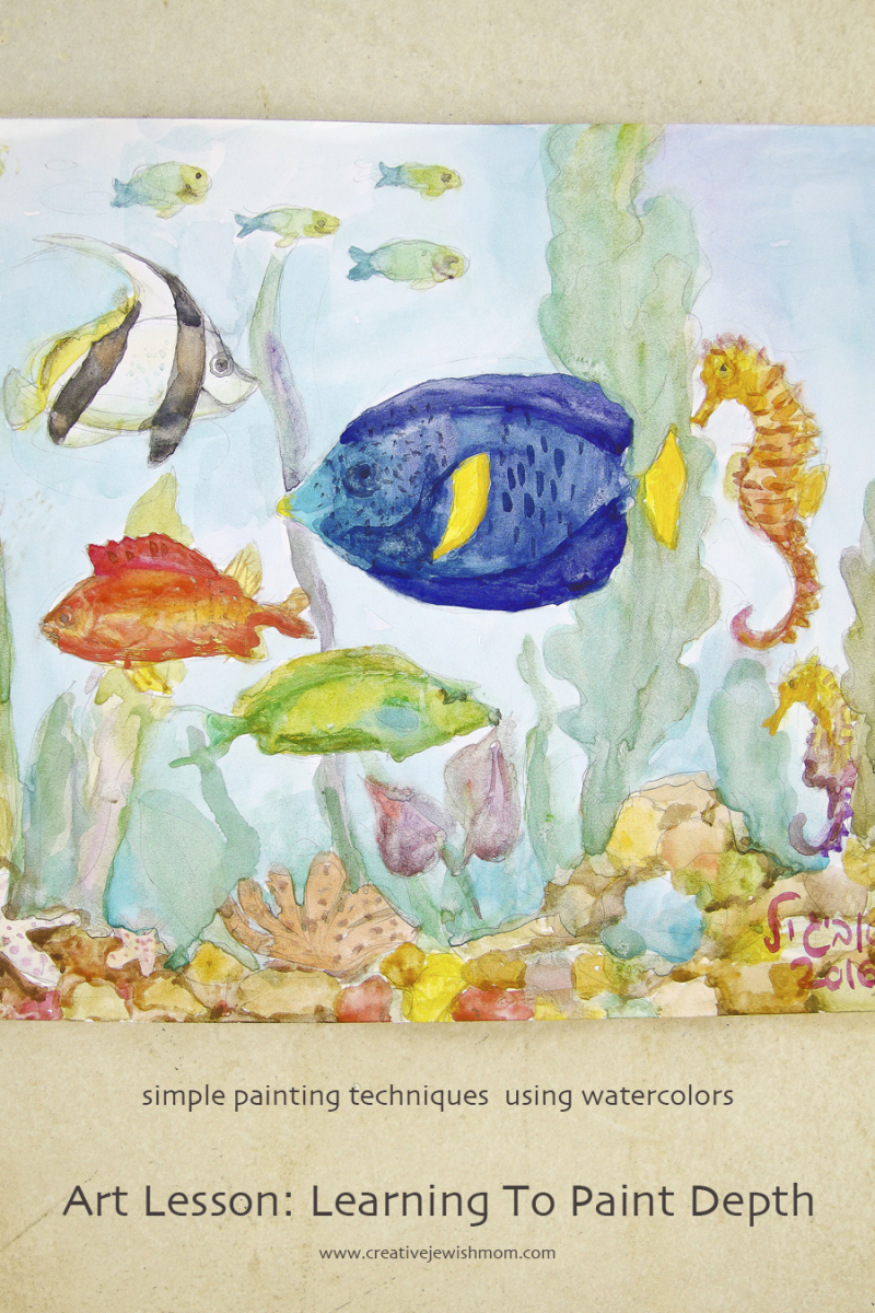 Watercolor Painting Of Fish for Kids