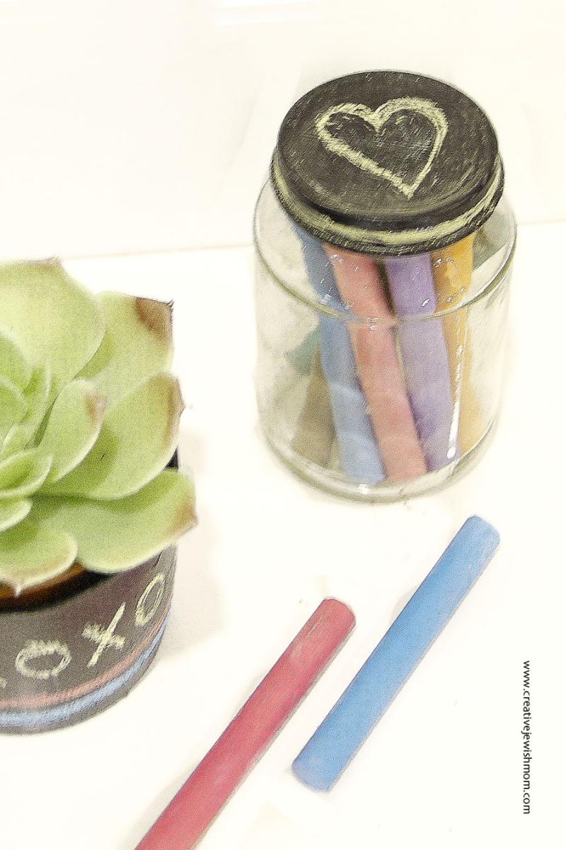 Chalkboard babyfood jar lid