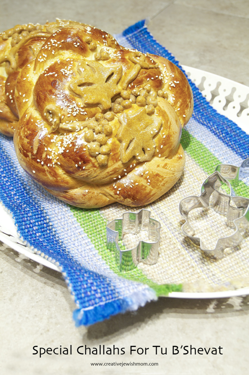 Challah With Grape Leaf Design