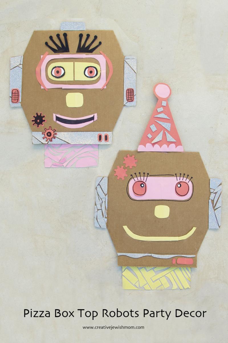 Purim Pizza Box Robot Craft