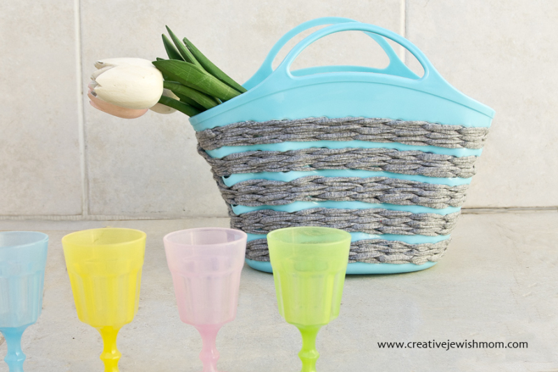Crocheting On Plastic Mesh Basket