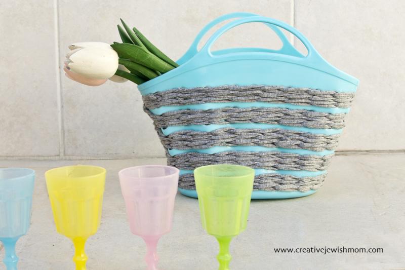Crocheting On Plastic Mesh Basket