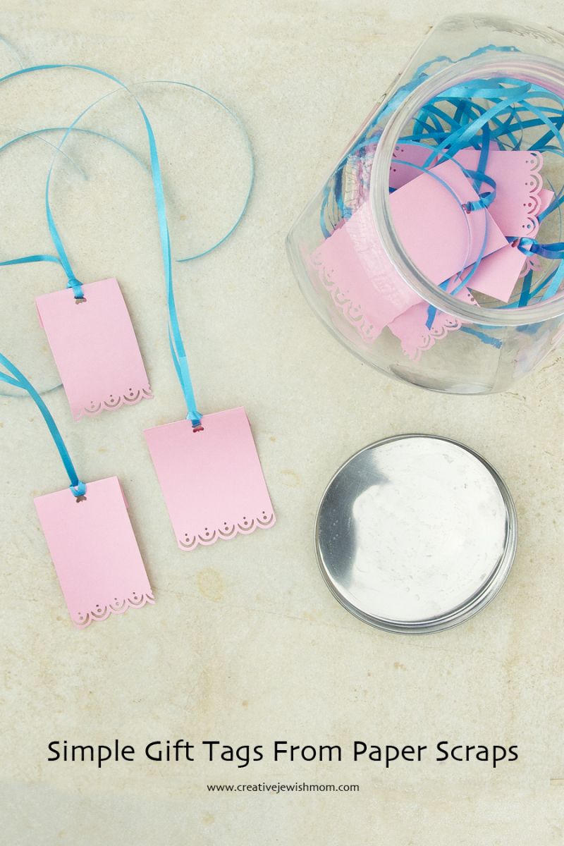 Simple Gift Tags From Paper Scraps Creative Jewish Mom