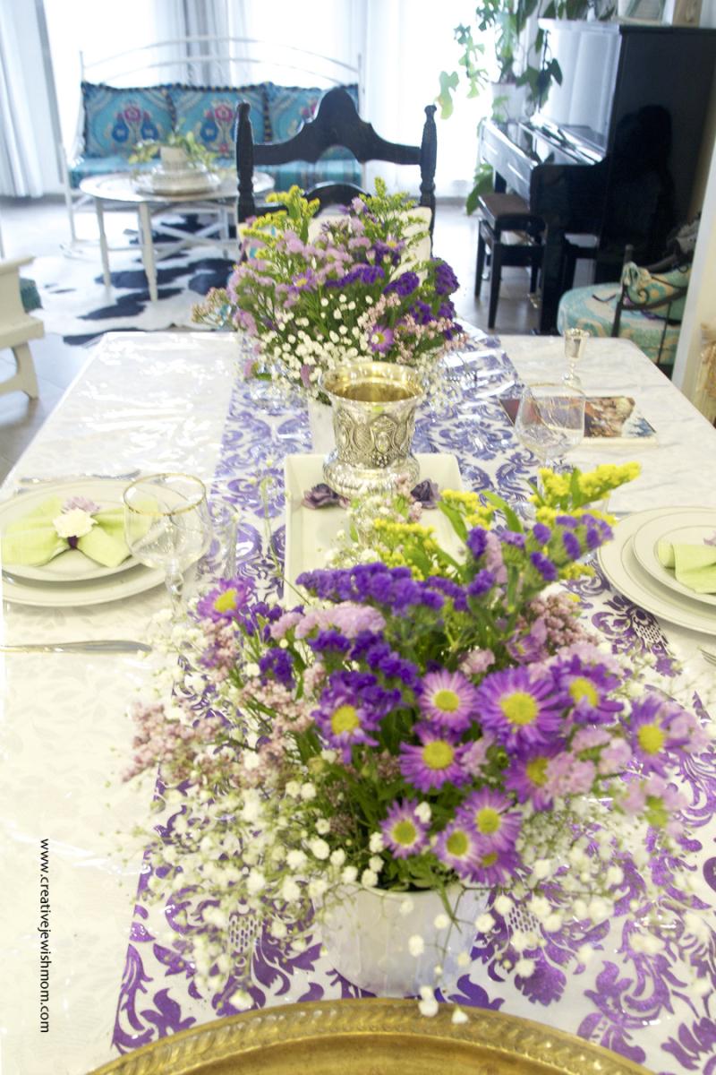 Passover Table Flower Arrangements
