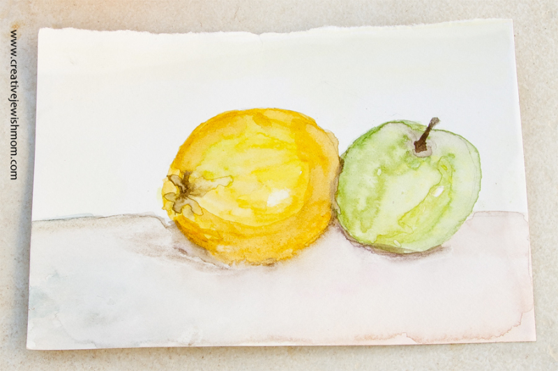 Watercolor Fruit still life exercise