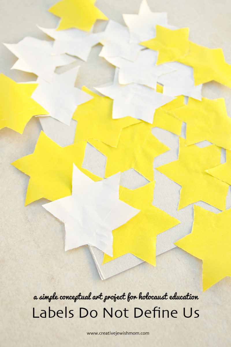 Yellow Jewish Star Art Project For Holocaust Remembrance