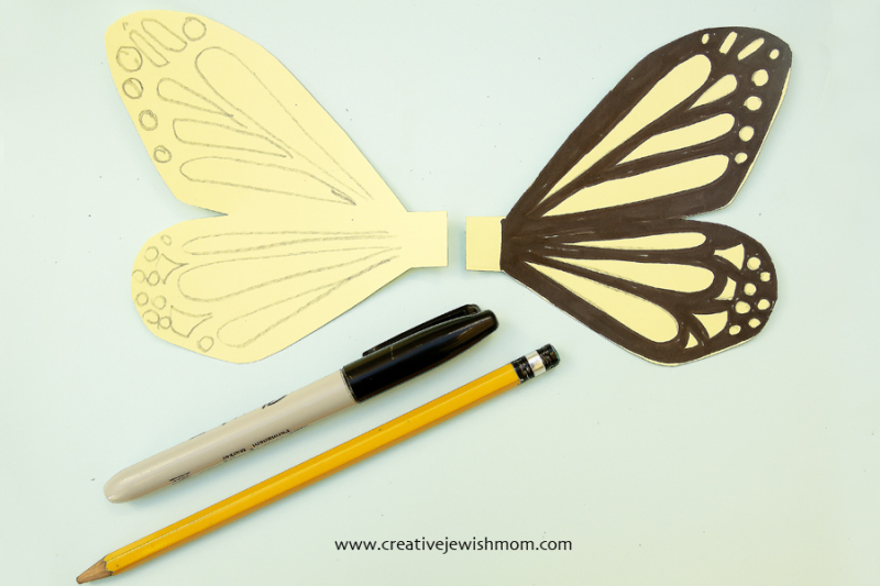 TP tube butterfly craft step 2