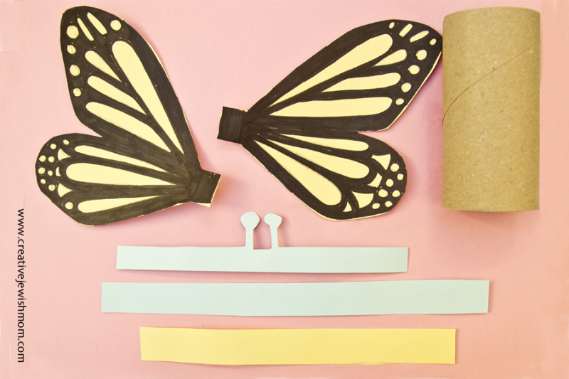 TP tube butterfly craft step 3