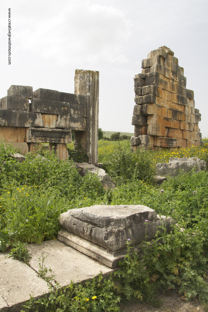 Tel Kedesh Israel Roman Shrine ruins
