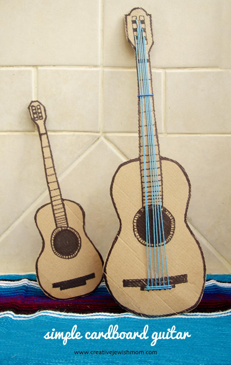 Cardboard Guitar Birthday decoration