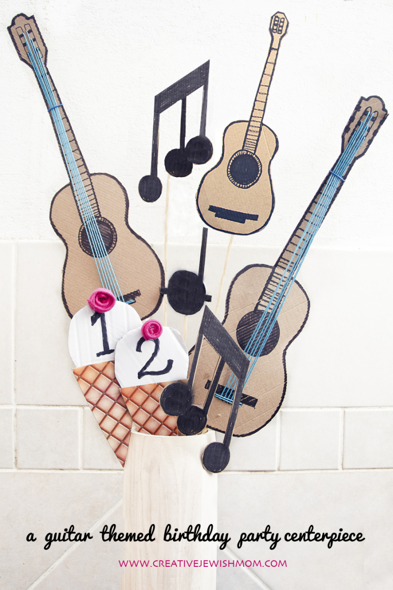 Guitar Birthday Party Dessert Bar Centerpiece