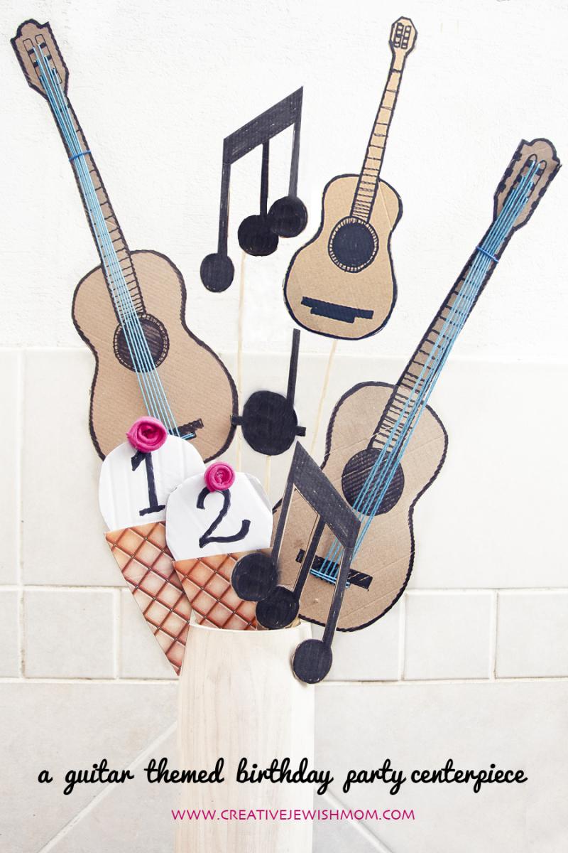 Guitar Birthday Party Dessert Bar Centerpiece