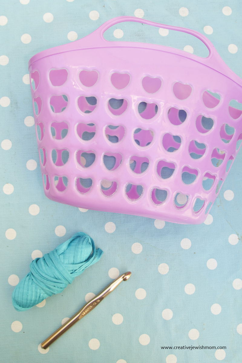 Crocheted Plastic basket supplies