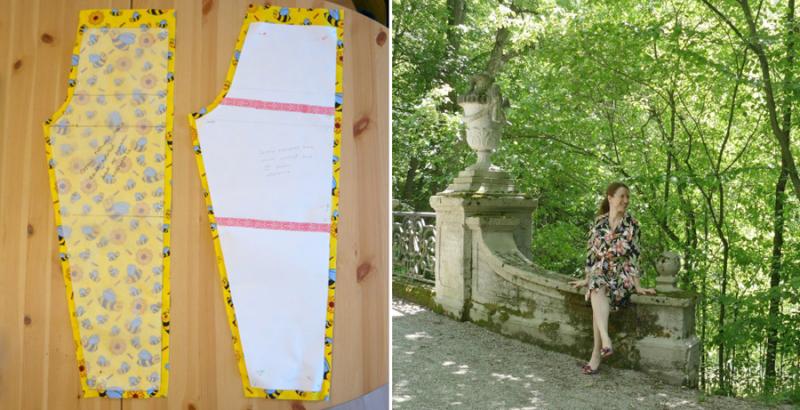 DIY simple pajama pants DIY shirt dress sewing pattern