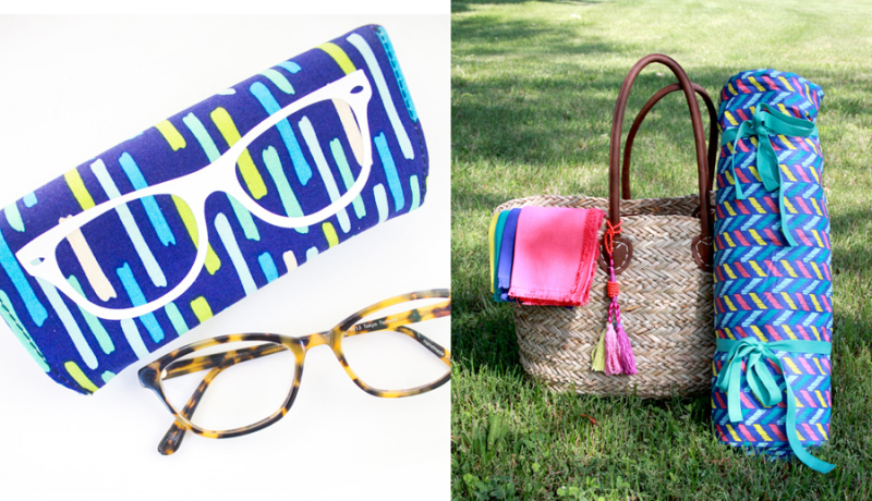 DIY picnic blanket DIY eyeglass case