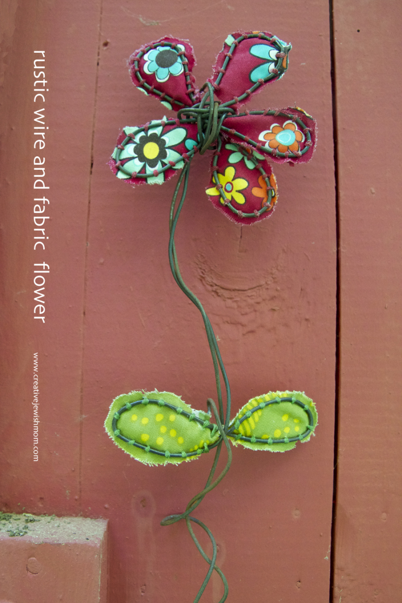 Wire And Fabric Flower Craft