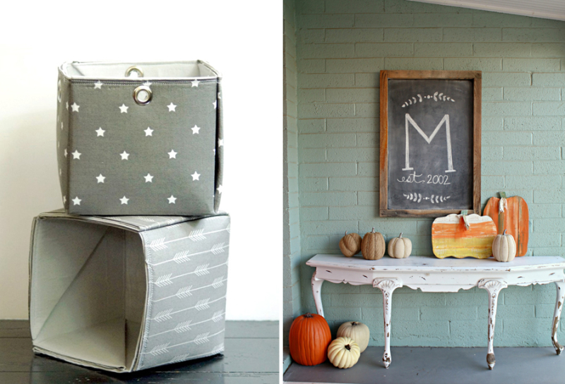 Fall decorating ideas DIY fabric baskets