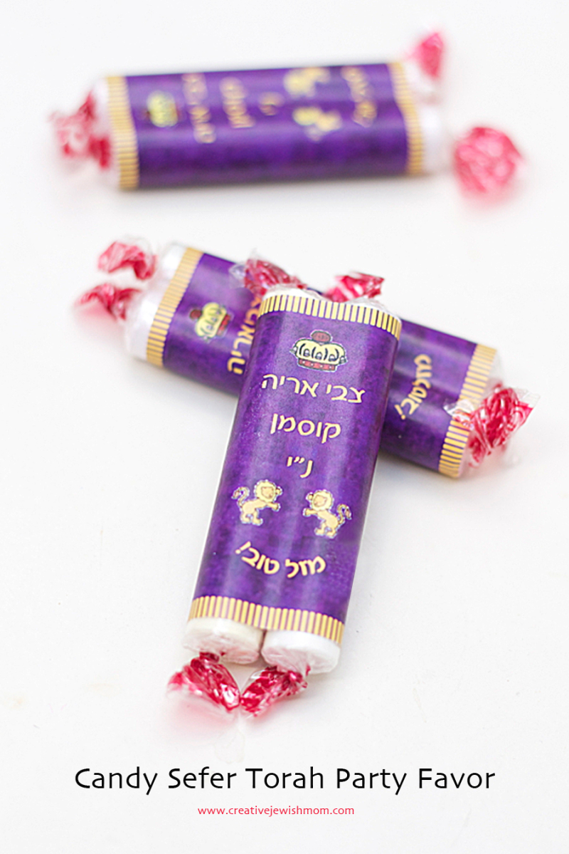 Bar Mitzvah Party Favor Sefer Torah